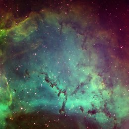 34  380x260 rosette northern detail ps final jpg C49; Rosette Nebula, northern detail