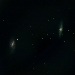 messier 65 and 66; galaxy pair in leo