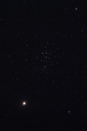 messier 44; beehive cluster with mars
