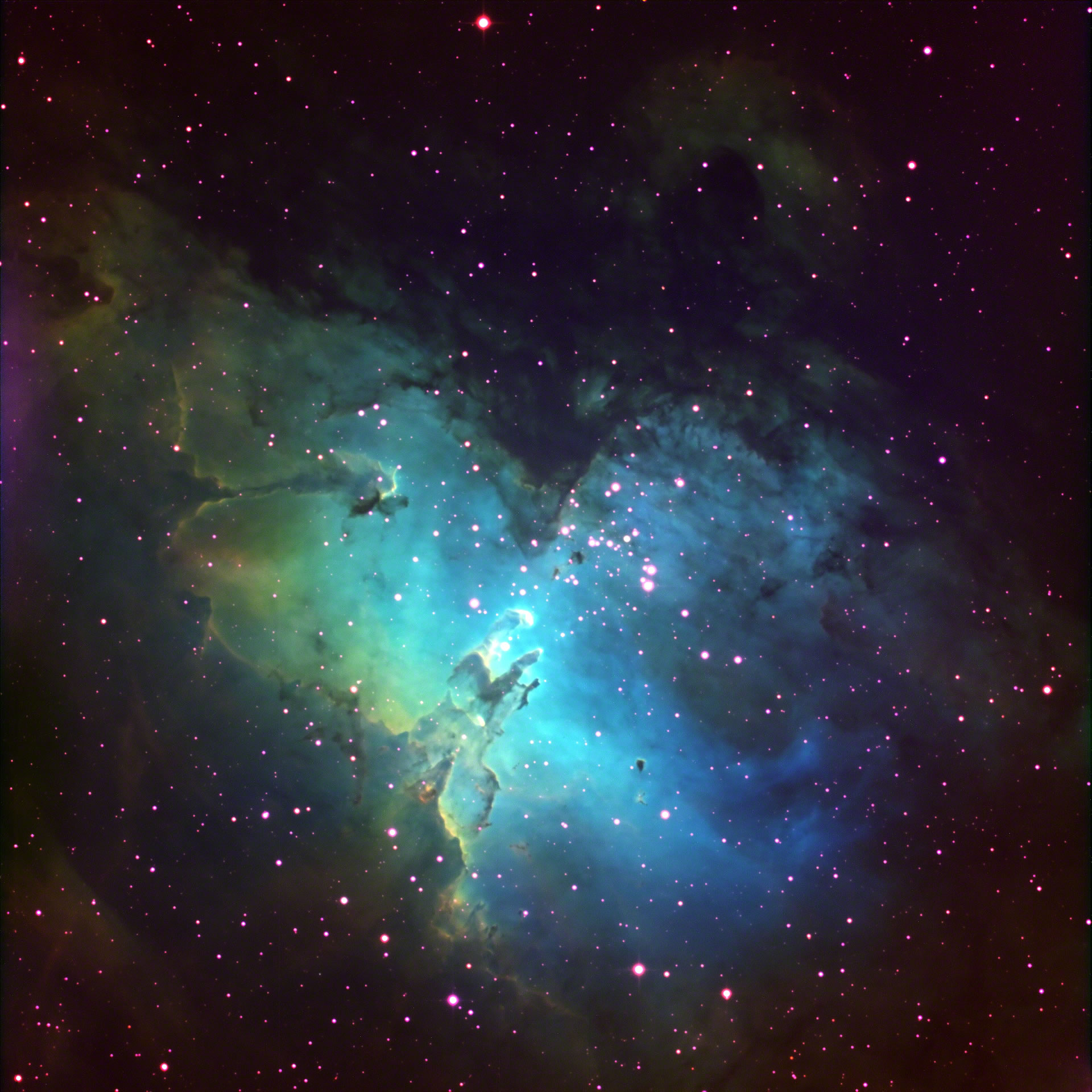 Messier 16; The Eagle Nebula or Star Queen Nebula