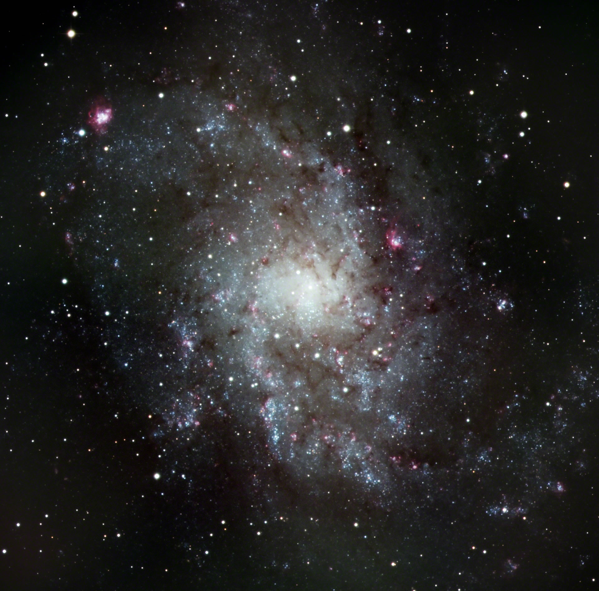 M33; Triangulum Galaxy or Pinwheel Galaxy